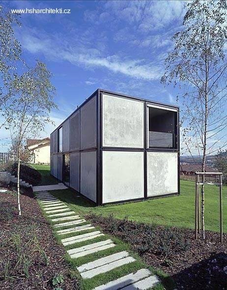 Villa compacta conceptual