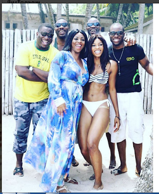 Birthday: Yvonne Elizabeth And Sexy Pals Flaunt Bikini Bodies In Pant And Bra