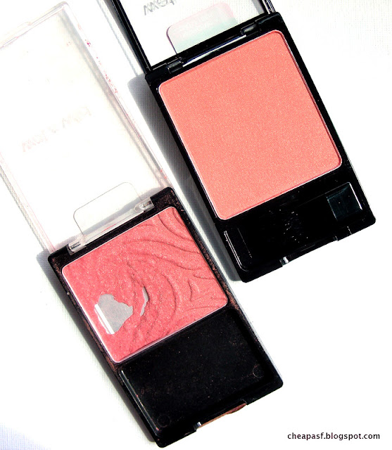 Comparison of New Wet N Wild Color Icon Blush in Pearlescent Pink vs. the old Pearlescent Pink
