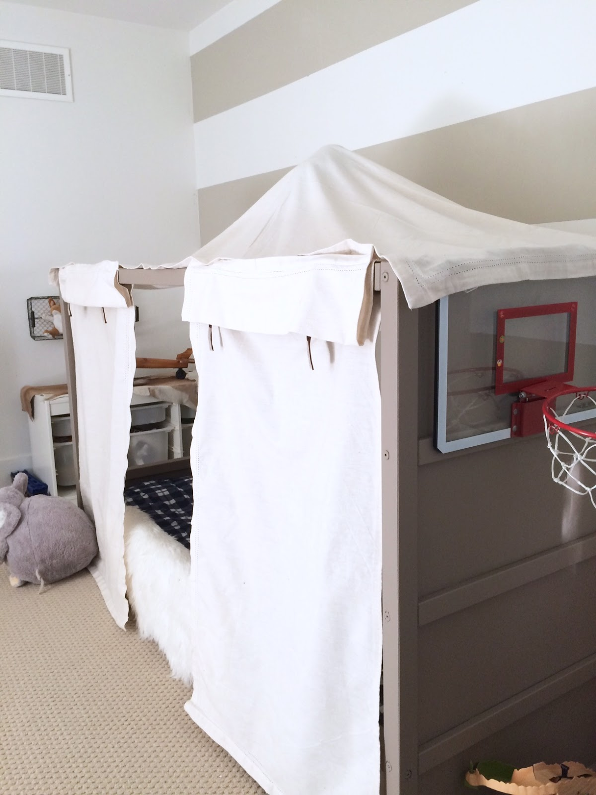 IKEA Kura Bed Hack DIY Boy Canopy Bed | Harlow u0026 Thistle - Home Design - Lifestyle - DIY & IKEA Kura Bed Hack: DIY Boy Canopy Bed | Harlow u0026 Thistle - Home ...