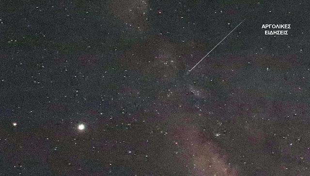 Πεφταστέρια γέμισε ο νυχτερινός ουρανός στο Ναύπλιο