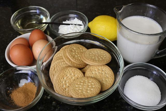 Ingredientes para galletas fritas rellenas de crema