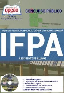 Apostila Concurso IFPA Pará 2016, Assistente de Alunos