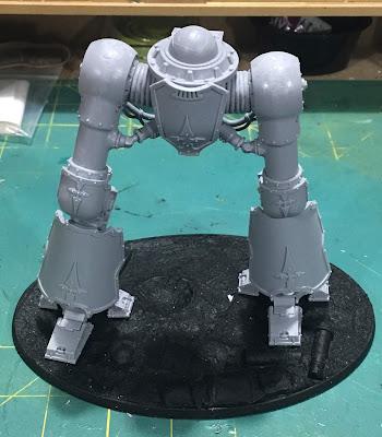 Cerastus Knight-Castigator WIP - legs assembled