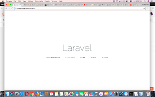 Laravel after first install
