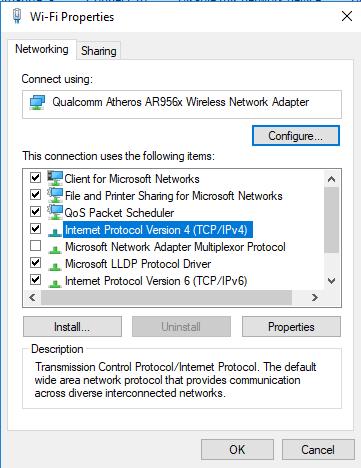 Pilih IPV4