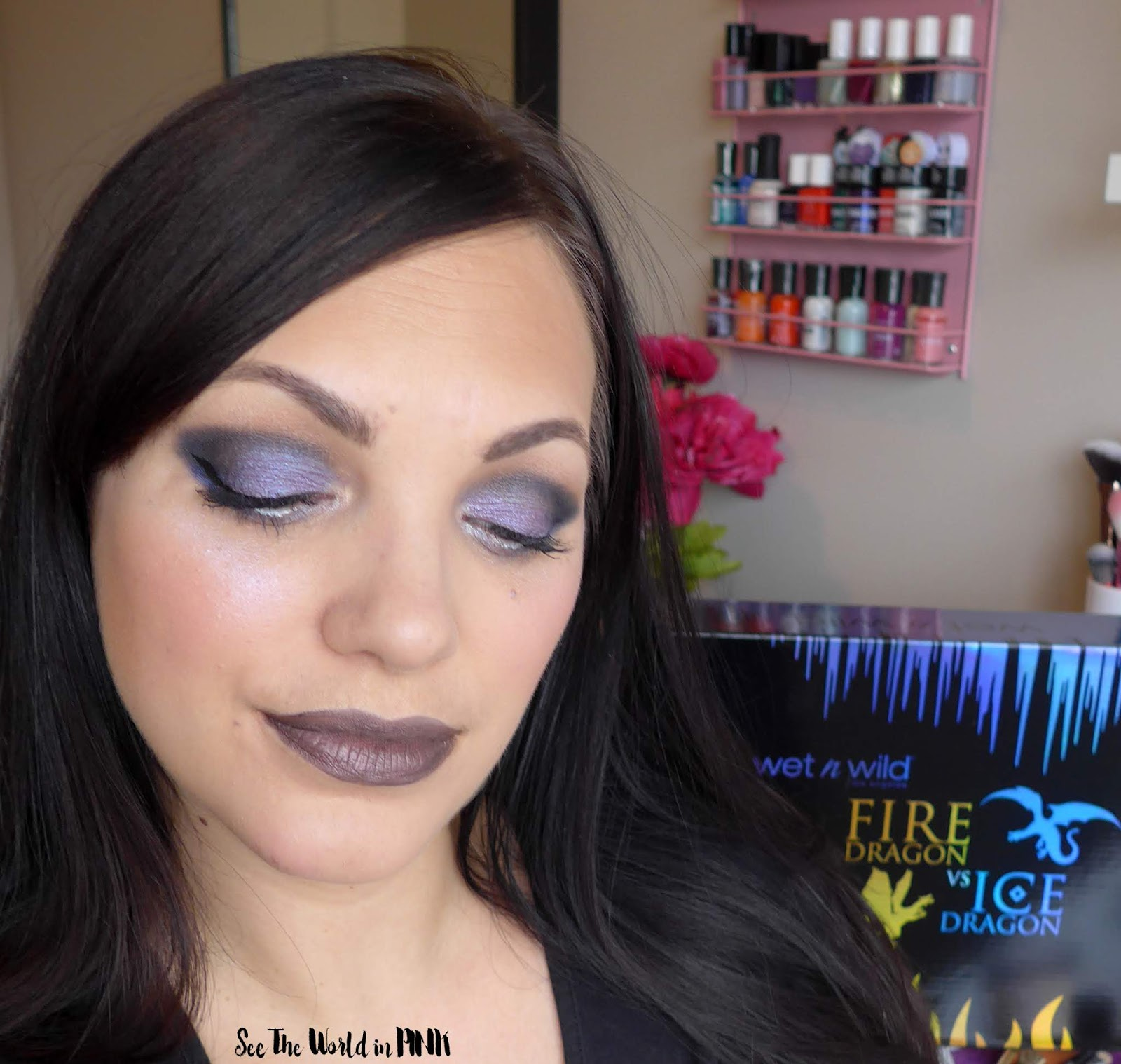 Wet N Wild Fire & Ice - Fire Dragon vs. Ice Dragon Makeup Looks, Swatches and Reviews