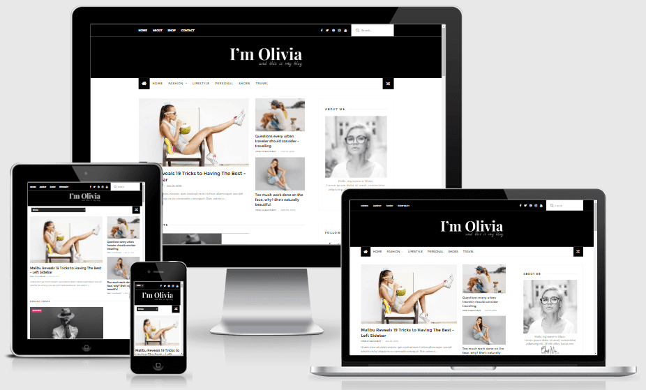 Download Olivia Responsive Clean Blogger Template