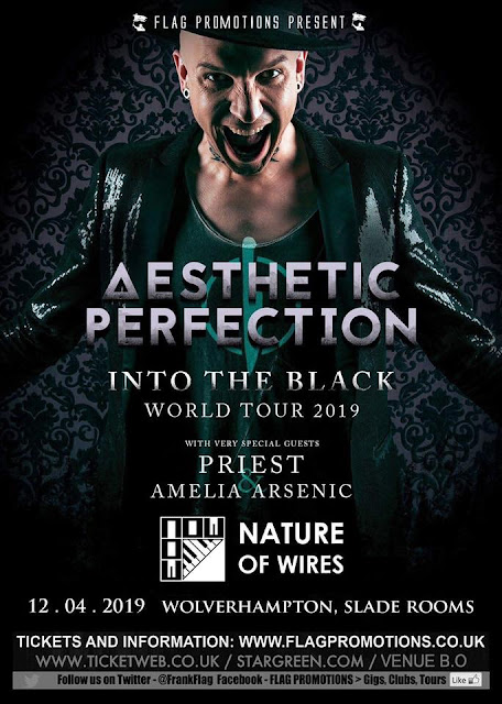 AESTHETIC PERFECTION + PRIEST + AMELIA ARSENIC + NATURE OF WIRES at The Slade Rooms, Wolverhampton (UK) 12/04/2019