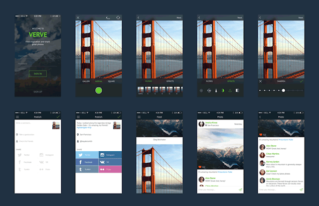 Verve Mobile UI Kit