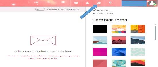selecciona el tema de tu preferencia en Hotmail