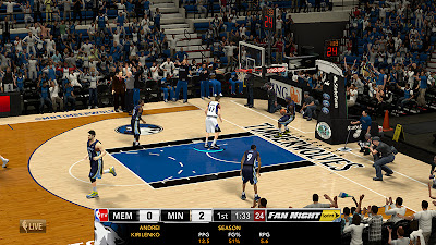 NBA 2K13 NBA TV Scoreboard with Team Logos