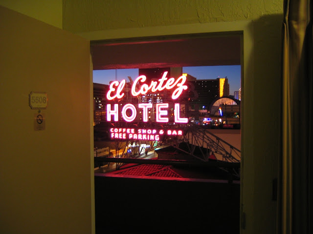 El Cortez Sign Pavillion Room Las Vegas