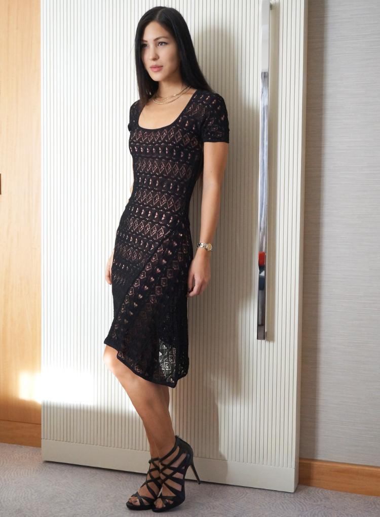 Euriental || fashion & luxury travel || Emilio Pucci lace/crochet black dress, Sam Edelman heels in Conrad St. James, London