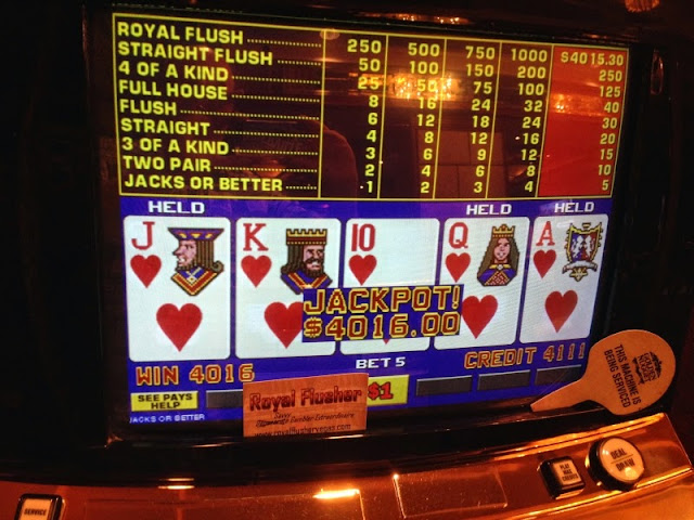 Royal Flush at the Golden Nugget