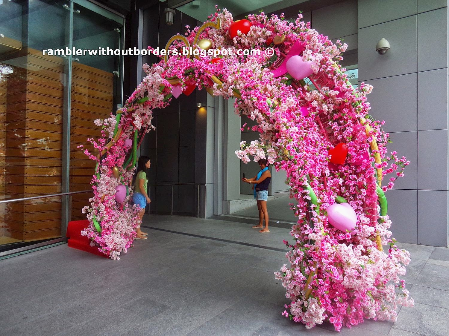 Valentine's Day Decoration, Orchard Central, Singapore