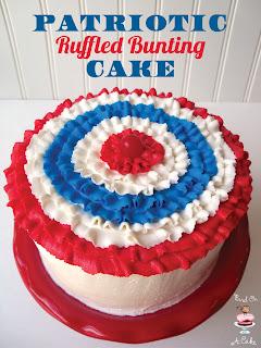 http://birdonacake.blogspot.com/2013/06/patriotic-ruffled-bunting-cake.html