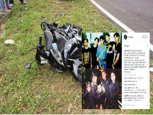 Bekas Pemain Gitar Kumpulan Kristal Maut Kemalangan