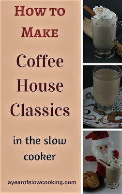 Save Money by making your own favorite coffee house favorite at home in your crockpot slow cooker! I like the gingerbread latte, but there is also chai tea, peppermint hot chocolate, and pumpkin spice latte!!