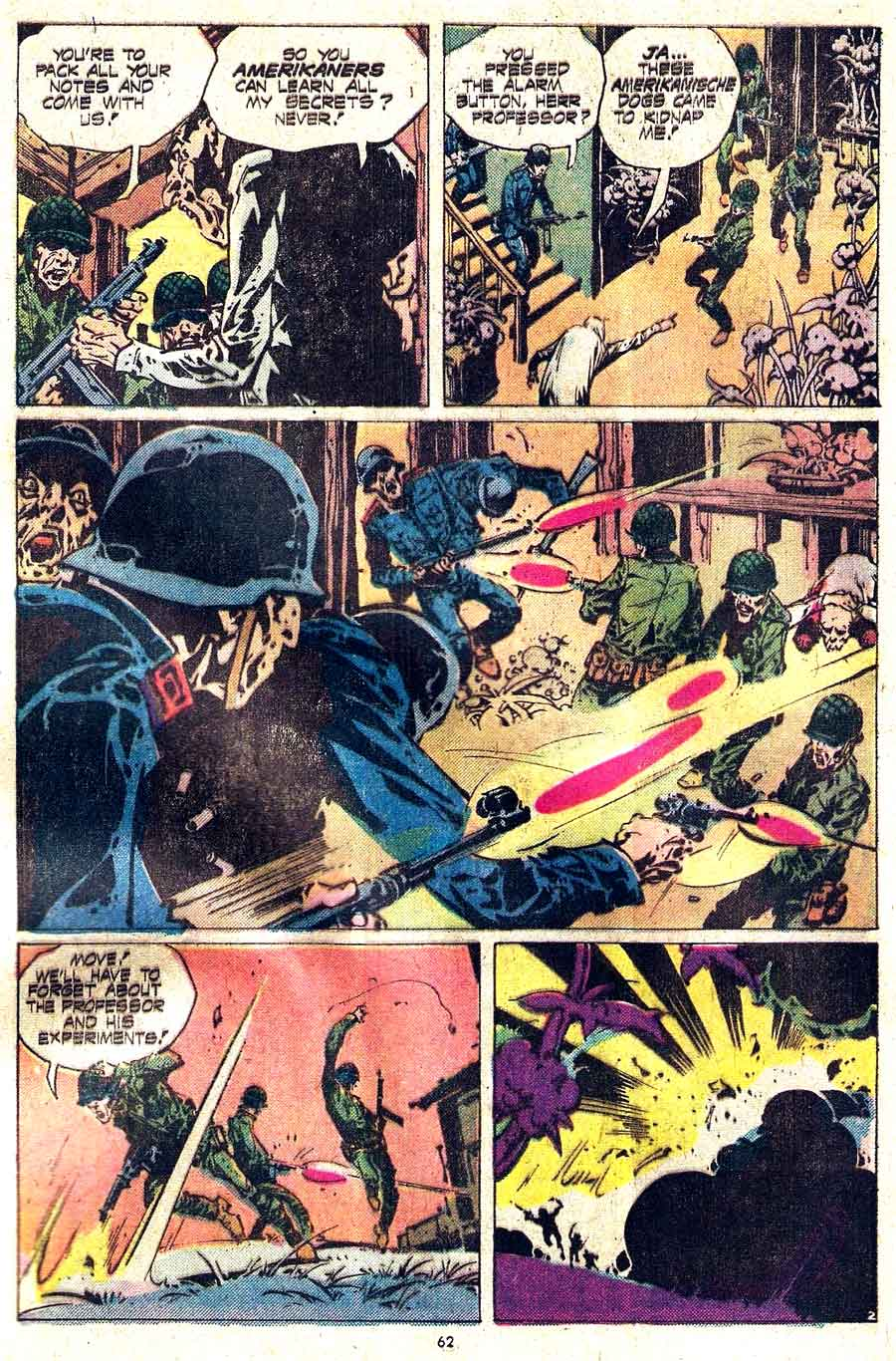 Weird War Tales v1 #36 dc bronze age comic book page art by Alex Nino