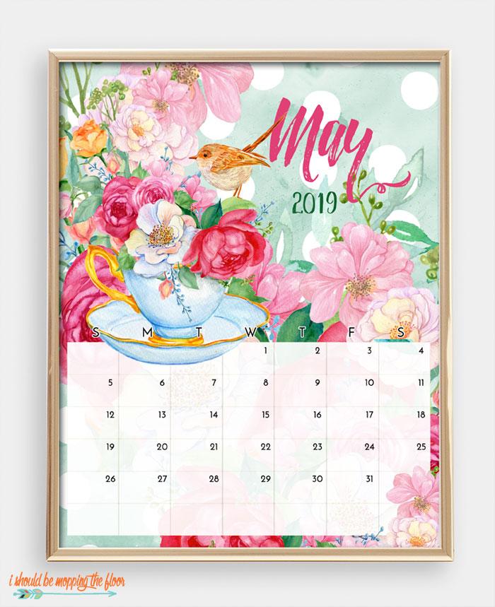 May Bird Calendar