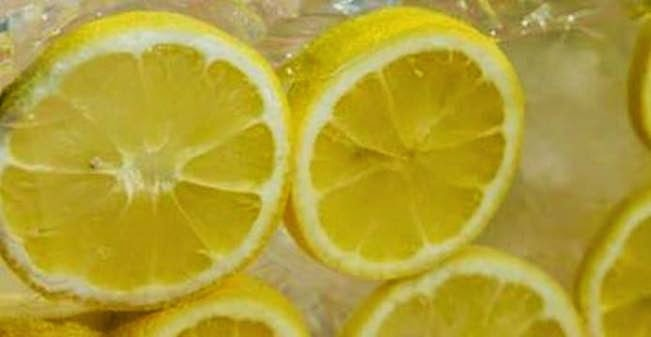 why you should freeze lemons