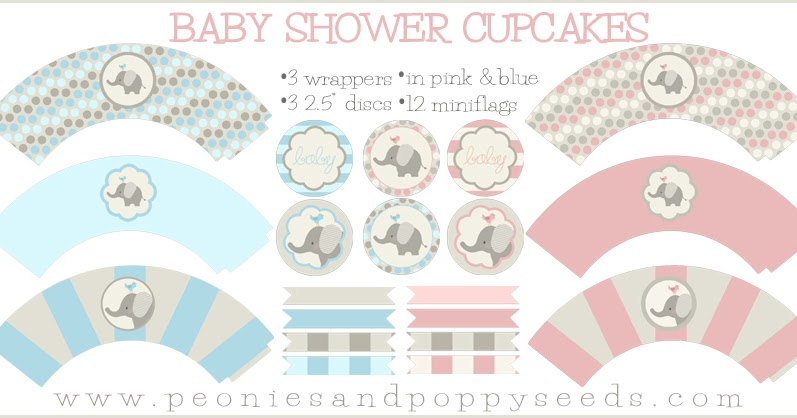 25 Baby Shower Cupcake Wrappers