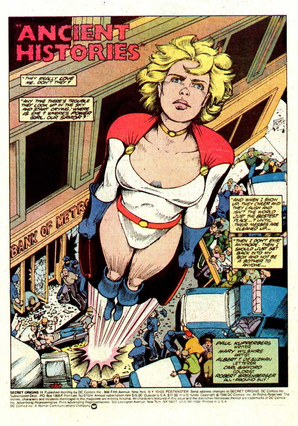 Read online Secret Origins (1986) comic -  Issue #11 - 2