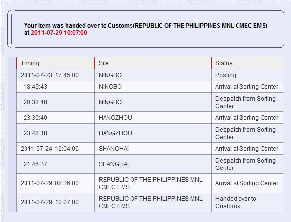 Philippines ems tracking