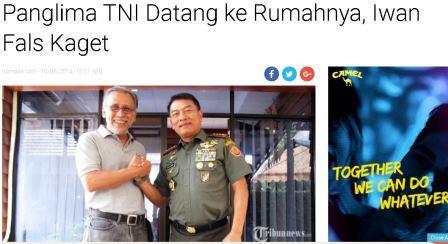 pejabat TNI datang ke rumah Iwan Fals