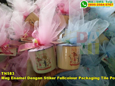 Toko Mug Enamel Dengan Stiker Fullcolour Packaging Tile Potong