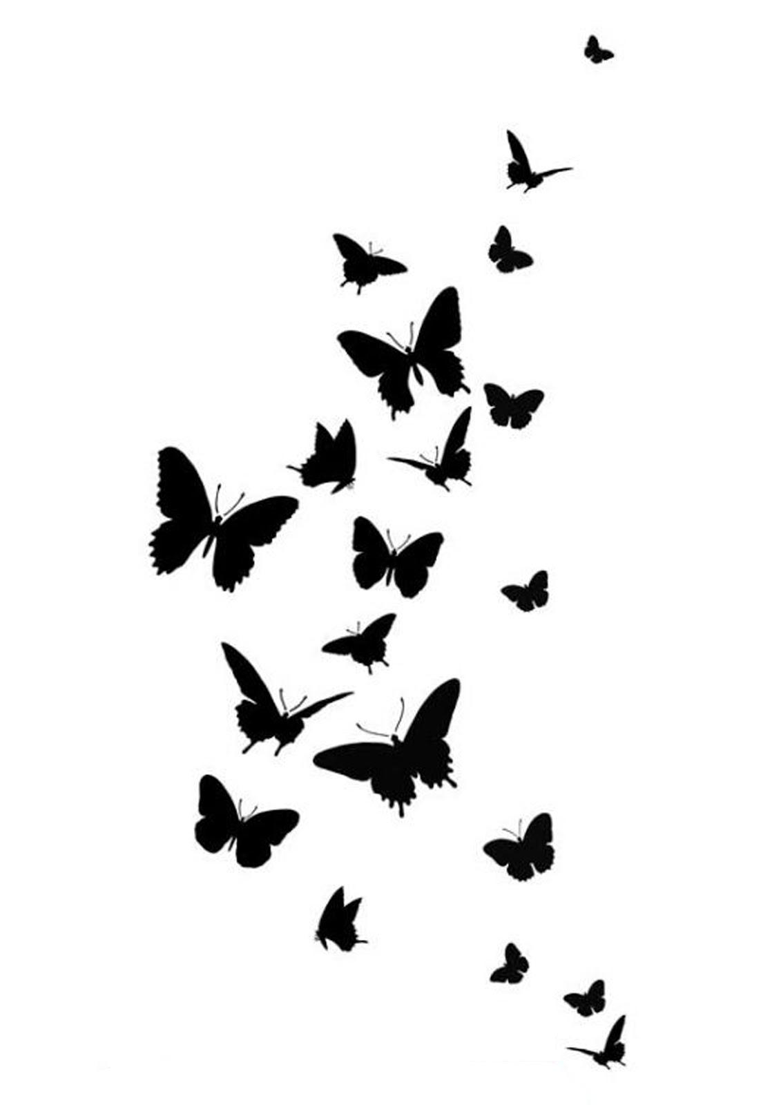 Sj aerografias plantillas mariposas - Plantillas para la pared ...