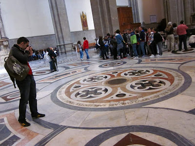 Marble floor of the Duomo of Florence