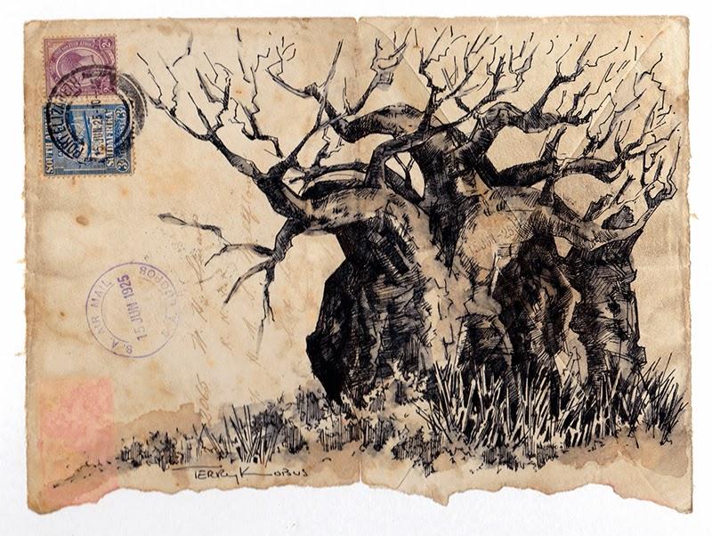 TERRY KOBUS - ORIGINALS GALLERY: Envelope Art