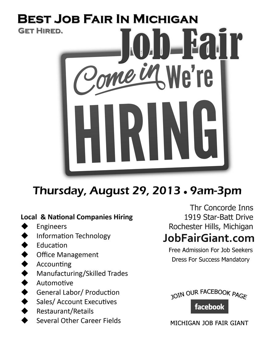 JobFairGiant.com Blog: Look Who's Hiring At Michigan Job