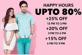 Ganesh Chaturthi Special @ Jabong: Extra 25% Off (12 PM – 3 PM) | Extra 20% Off (3 PM – 6 PM) | Extra 15% Off (6 PM – 9 PM)