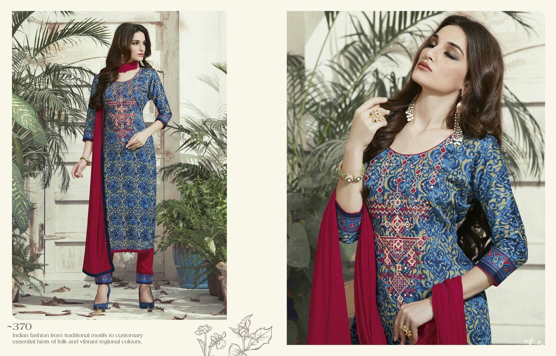 Shisha- Stylish  Gorgeous satin Cotton Printed Dress Material