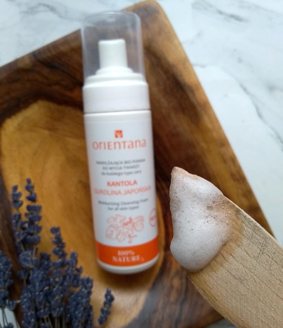 Orientana, pianka do mycia twarzy Kantola - Gurdlina japońska blog recenzja