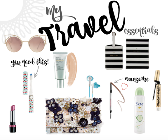 Travel Essentials Collage