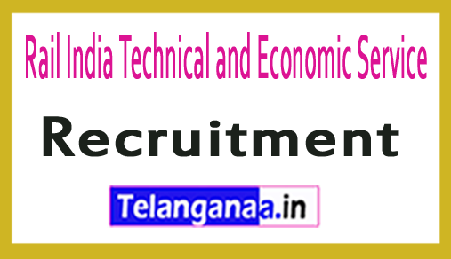 Rail India Technical and Economic Service RITES Recruitment