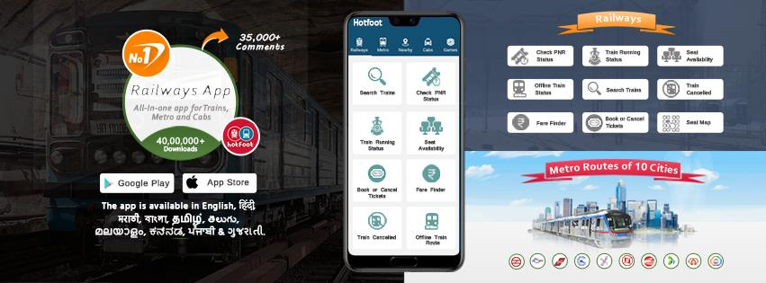 1 Travel App for Trains, Metro & Cabs - 40,00,000 Downloads