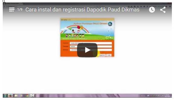 Cara instal dan registrasi Dapodik Paud Dikmas