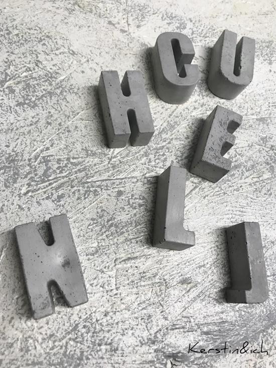 Buchstaben Beton Betonideen Deko Hunsrück