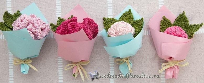 Букетики цветов крючком