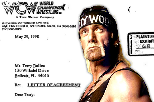 Hulk Hogan 1998 WCW contract.  StrengthFighter.com