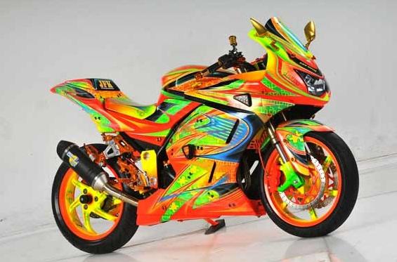 Modifikasi Motor Ninja 250 Karburator Airbrush Spesifikasi Motor