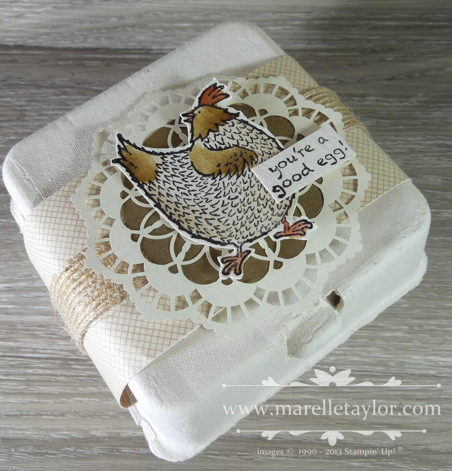 Marelle taylor stampin up demonstrator sydney australia hey as you can probably tell by the chocolate eggs in the shops easter is just around the corner if youre looking for a quick and easy and inexpensive gift negle Images