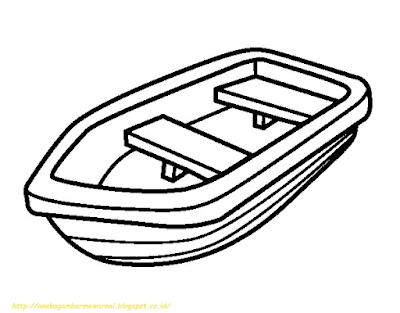 Mewarnai Gambar Kapal Laut - 4