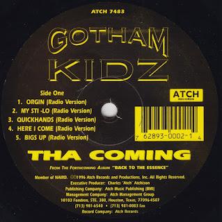 Gotham Kidz – Tha Coming (1996) (Ep) [Vinyl] [FLAC] [24-96]