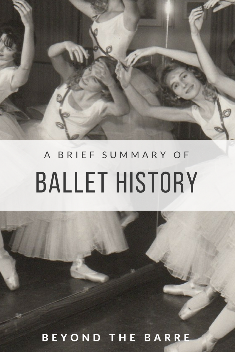 9ec831123 Beyond the Barre  A Brief History of Ballet